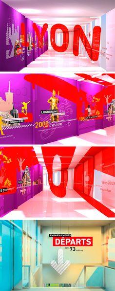 Plan D_ Soluciones creativas » Diseño de señalética Aeropuerto de Lyon