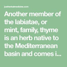 Another member of the labiatae, or mint, family, thyme is an herb native to the Mediterranean basin and comes in many varieties. There is only one plant, thymus vulgaris, but the composition of the oil distilled from the plant shows variations in chemical components based on the location or region the plant grows in, despite …
