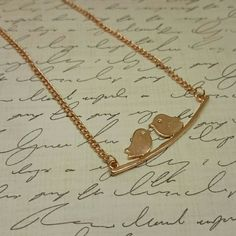 "Love birds necklace two birds mother daughter gold Rose gold two birds necklace. Great for a mother daughter, best friends or love birds. Only 1 available right now. Adjustable from 16""-18"". Brand new. Jewelry Necklaces"