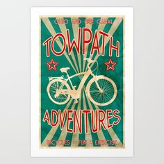TOWPATH ADVENTURES Art Print by Bili Kribbs - $15.00