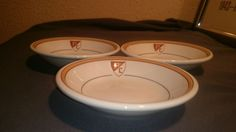 3 Vintage Coleslaw Bowls PC LOGO SHIELD PC CREST Restaurant Slaw MAYER CHINA 5.5 #Mayer