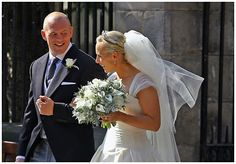 Retrô - Casamento de famosos 2011. Zara Phillips e Mike Tindall