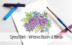 Speed Paint - Inktense Blocks & Pencils | The Card Grotto