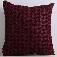 Maroon Floral Pillows, Qt.2 | Lovegood Wedding & Event Rentals