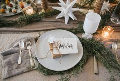 simple and elegant holiday table inspiration  Photographers : Jessica Weiser and Lyle Koehnlein  Read More on SMP: http://www.stylemepretty.com/living/2016/12/21/a-nordic-inspired-holiday-gathering/
