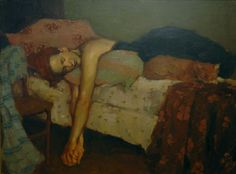 Catnap by Malcolm Liepke, Original Painting, Oil on Canvas