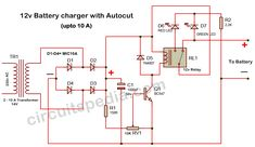 Lead Acid Battery Charger, Battery Charger Circuit, Automatic Battery Charger, Power Supply Design, Diy Amplifier, Power Supply Circuit, Simple Circuit, Motorcycle Battery, Electronic Schematics