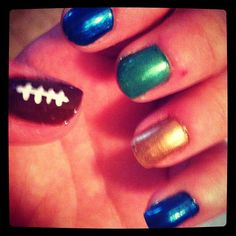 my Notre Dame football nails