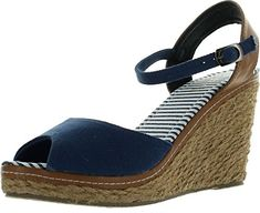 Refresh Bypass01 Womens Ankle Strap Slingback Espadrille Wedge SandalNavy10 >>> Find out more about the great product at the image link.