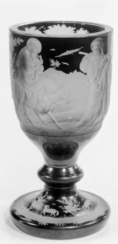Goblet  Date:     second quarter 19th century  Culture:     Bohemian  Medium:     Glass