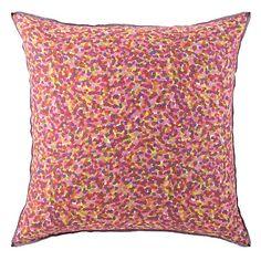 Seurat Euro Sham in Azalea (Patterned Pattern, accent decorative sham) | Fine Furniture from Company C (New)
