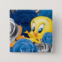 Good Morning Animation, Round Button, Custom Buttons, Looney Tunes, Tweety, Tattoo Designs, Funny Pictures, Art Pieces, Cartoon
