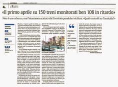 Il primo aprile su 150 treni monitorati ben 108 in ritardo | Comitato Pendolari Siciliani