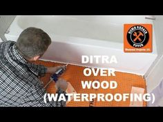 How to Install DITRA on a Wood Subfloor (stop cracked tiles & grout!) – Home Repair Tutor Narrow Bathroom Vanities, Bathroom Vanity Drawers, Corner Bathroom Vanity, Small Bathroom Tiles, Bathroom Vanity Makeover, Bathroom Layout, Tile Layout, Bathroom Interior, Modern Bathroom