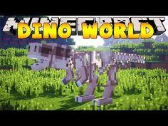 Minecraft Dinosaur World : ANCIENT DINOSAUR MUSEUM! - YouTube Dinosaur Museum, Little Lizard, Tiny Turtle, Fantasy Concept Art, Minecraft Designs, Moose, World, Youtube, Crafts
