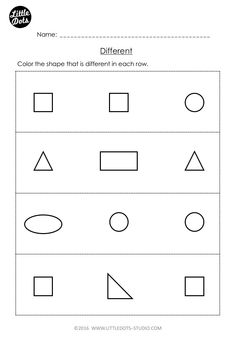 Best Free Prek Math Worksheets And Activities Images  Pre K  Free Same And Different Worksheet For Prek Pre K Math Worksheets Shapes  Worksheet