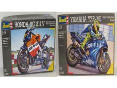 Honda & Yamaha Racing Cycles Revell Scale Both Discontinued – Shore Line Hobby Motorcycle Model Kits, Radial Engine, Model Airplanes, Yamaha, Honda, Scale, Racing, Weighing Scale, Auto Racing