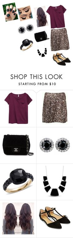 """""""A Girls Day Out"""" by ms-julienteacher on Polyvore featuring H&M, Vince, Chanel, Pomellato, Karen Kane and Accessorize"""