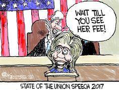 Political cartoon U.S. Hillary Walker fee