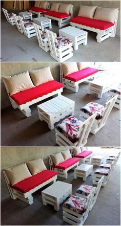 So salvaging wood pallets can be enthralling and low priced. You can spend your leisure time in captivating way. Reuse wood pallets to make couches and give a grand look to your place.