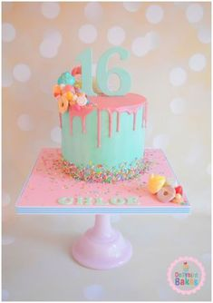 Sweet 16 Birthday Cake Ideas Sweet 16 Birthday Cake Drip Cake White Chocolate Ganash Cakes I Sweet 16 Birthday Cake Ideas Sweet 16 Birthday Cake Drip Cake White Chocolate Ganash Cakes I Pretty Cakes, Cute Cakes, Beautiful Cakes, Sweet Sixteen Cakes, Sweet 16 Cakes, Pastel Shopkins, Drippy Cakes, Sweet 16 Birthday Cake, Girly Birthday Cakes