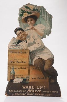 Early Moxie Die Cut Store Display Advertisement.
