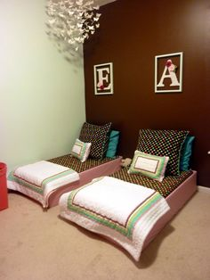 DIY Toddler Beds - Beautiful and Cheap. Cost for both beds was around 40 dollars!!