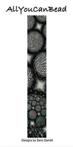 Peyote Bracelet Pattern 2009 Bead Weaving INSTANT DOWNLOAD PDF Even Count