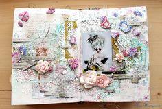 "Elena Martynova: Арт-журнал ""Небо в алмазах"" \ Art-journal page ""Diamonds in the sky"""