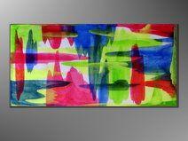 UNIKAT 100 x 50 Gemälde Abstrakt Acrylbilder NEU   http://de.dawanda.com/shop/A-Winkler