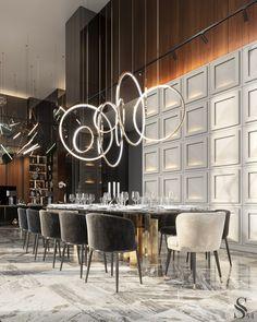 Apartment in residential complex «Capital Towers Elegant Dining Room, Luxury Dining Room, Dining Room Design, Dining Area, Kitchen Design, Room Interior Design, Luxury Interior, Luxury Furniture, Interior Design Portfolios