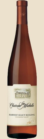 Chateau Ste. Michelle Harvest Select Riesling . . . sweeter version of their classic riesling. Nice dessert wine.