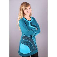 XL bestickte Tunika, Kleid, besticktes Kleid