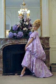 """1960, Brigitte Bardot in """"Nuit de Venise """"  Yves Saint Laurent for Dior dress by Nicolas Tikhomiroff"""