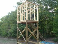 elevated hunting stand plans | Homemade Hunting Blinds