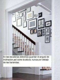 cuadros en escaleras
