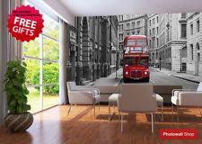 Wall Mural Photo Designer Wallpaper London Bus Stop photomural FREE UK POSTAGE