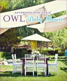 anthropologie inspired baby shower- owl theme