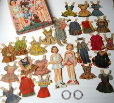 Vintage Paper dolls Whitman Sugarplum Dolls 2971 for play or altered projects. $20.00, via Etsy.