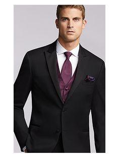 The Men S Wearhouse Joseph Abboud Black Tuxedo Wedding Tuxedos Suit Photo