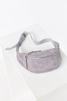 Grey Suede Bum Bag