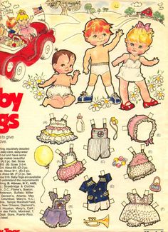 Baby Togs adv paper dolls