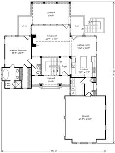 4 bedroom daylight basement house plan.  No entry closet, but interesting layout with possibilities.
