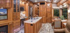 2017 Mobile Suites 36 RSSB3 Kitchen | DRV Luxury Suites
