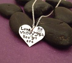 Sterling silver metal stamped necklace. www.facebook.com/AmbersWhimsy