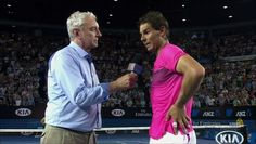 Rafa's on-court interview immediately after 2nd round match at the 2015 Australian Open.