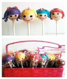 Lalaloopsy Cake Pops @Angela Ringler Too bad the girls don't love Lalaloopsy as much as we do! Haha. :)