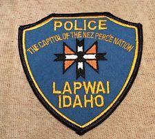 Lapwai Idaho Police Patch
