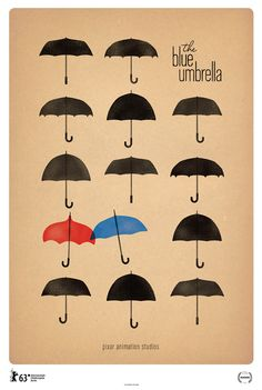 The Blue Umbrella Poster created by Saschka Unseld for Pixar Animation Studios | FirstShowing.net