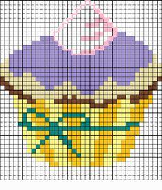 El taller de Ire: Patrones de cupcakes en punto de cruz